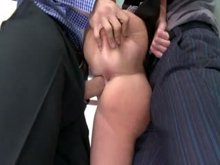 Hardcore Gangbang: MILF With A Tiny Body And Huge Tits Gangbanged By Co-Workers