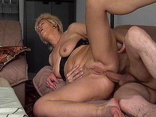 Horny mature in total screw