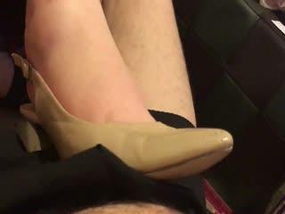 Nude Kitten Heel Cock Crush