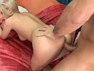 Nice blonde gets a deep creampie fuck