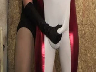 Superhero's Nuts Squashed By Hot Villainess