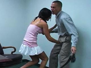 The Teenage Ball Busting Schoolgirl