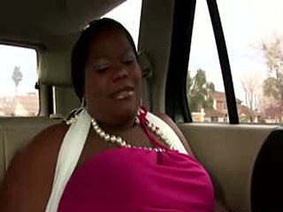 Ebony missis on back seat