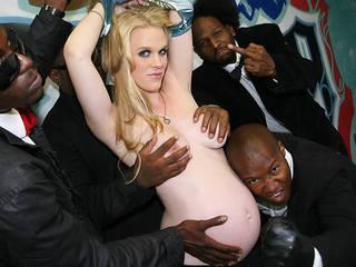 Pregnant Hydii May gangbanged by big black cocks