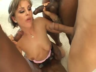 Isabel Ice surrounded with dicks