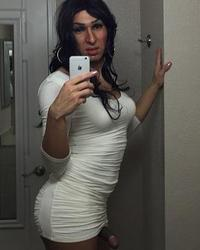 Veronica Mendez - white bodycon dress