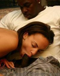 Hot ebony babe sucks and fucks a massive black dick