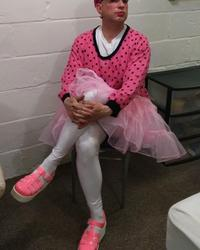 Sissy Mike Karacson crossdressing pink tutu