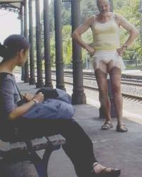 perverted german tranny craves public humiliation