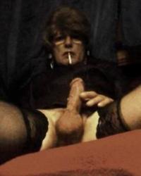 Mnady smoking tranny.