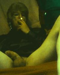 A slag and her cock smoking.