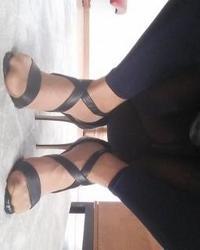 More black sandals