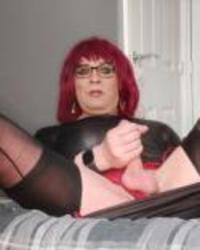 juniperberi29 crossdressing black stockings and dress
