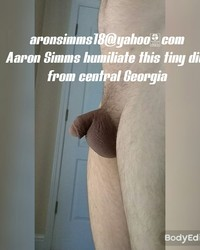 This is Mistress Anne's newest internet slave, he'd love it if everybody could send him humiliating