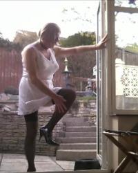 White Slip on Patio 1