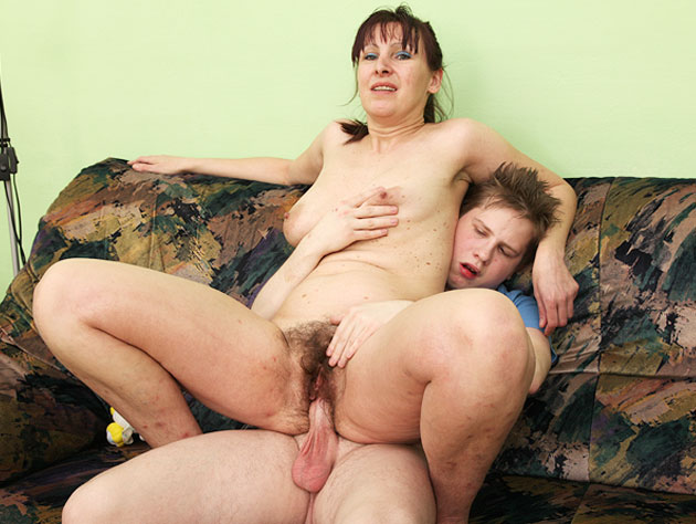 Granny Sits On A Hard Dick
