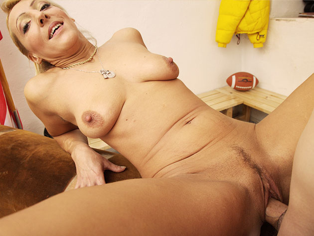 Mature Blonde Bitch And A Horny Guy