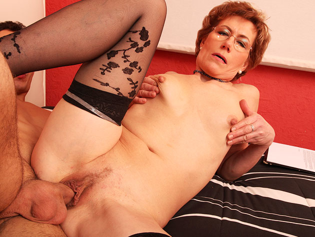 Horny Granny In Stockings