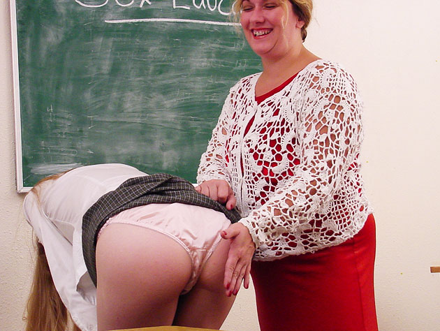 Student gets spanked by the teacher