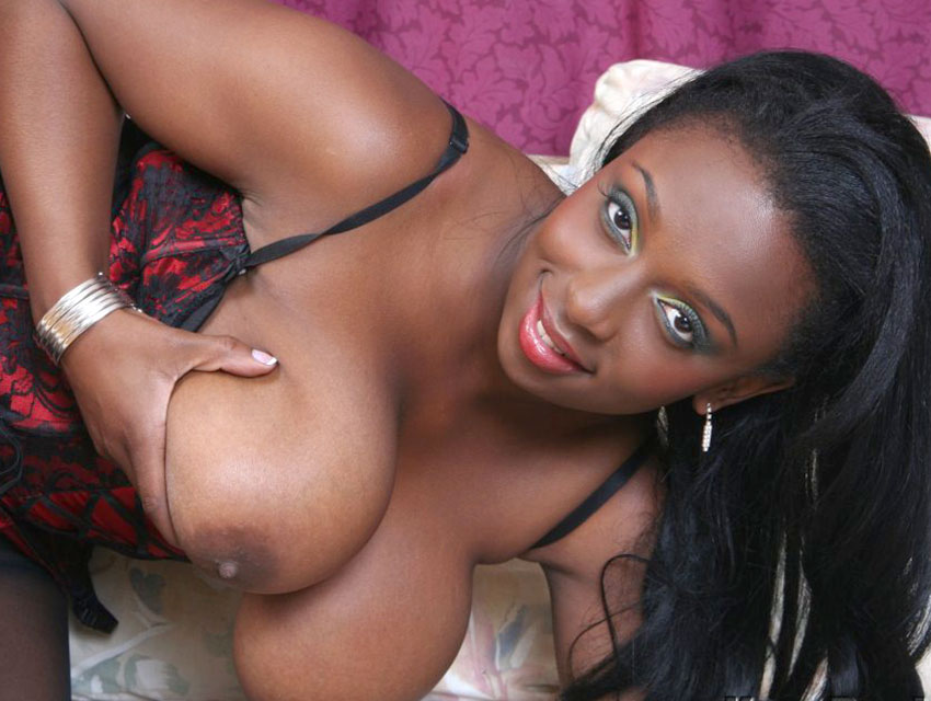 Panther plays with her tits