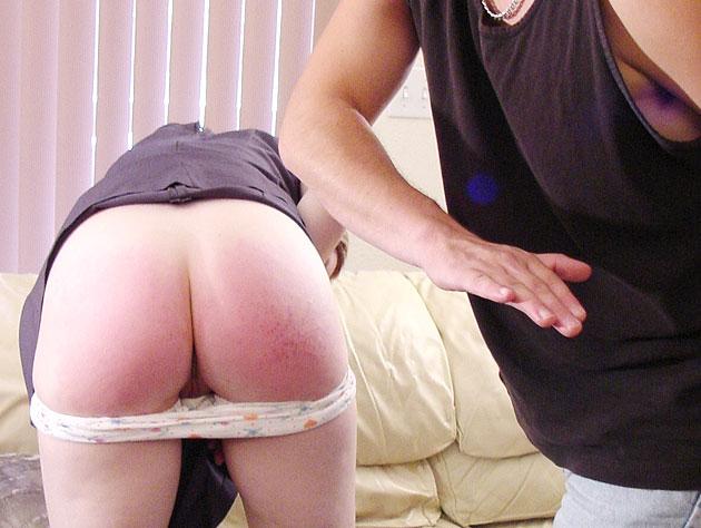Hot bare hand spanking