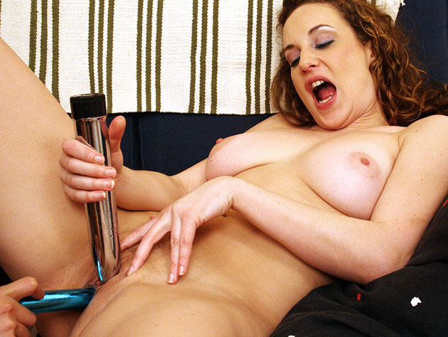 Lesbian dildo action