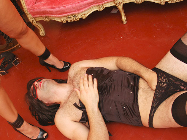 Kinky and submissive sissy man
