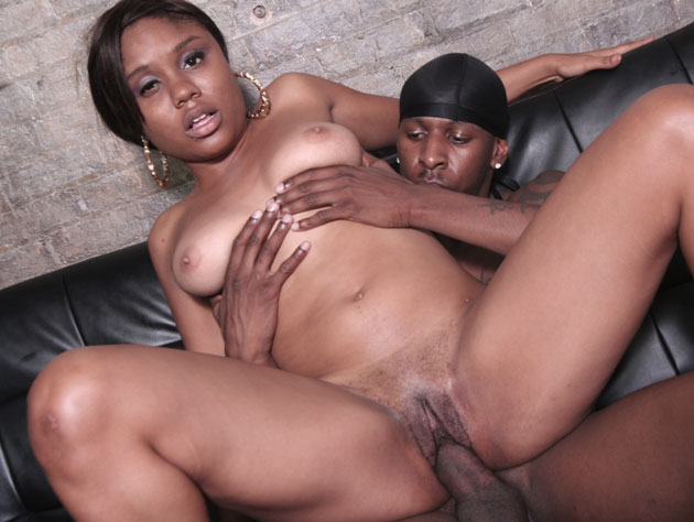 Sexy black chick get her pounded