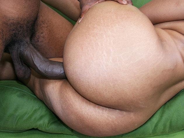 Ebony ass assaulted by big dick