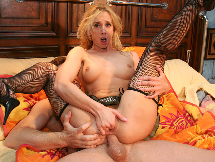 Nasty blonde fucked up the ass