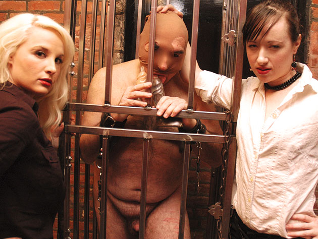 Two Mistresses Dominate Their Slave