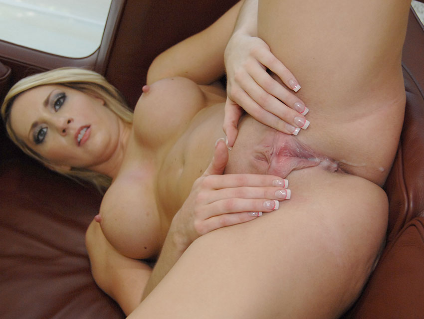 Missy Woods's pussy packed with cum