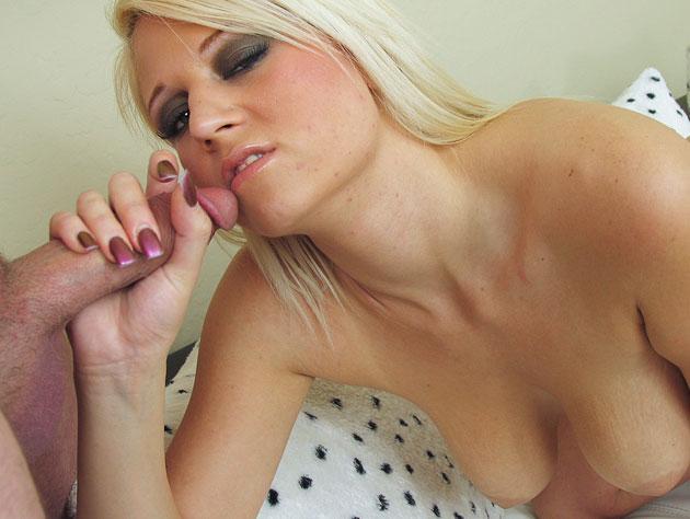 Blonde slut in need of cum