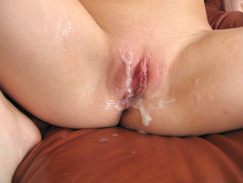 Taryn gets cum all over her twat