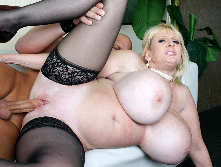 Big tits and black stockings