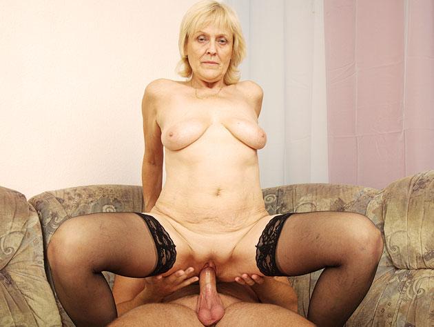 Horny Granny In A Hardcore Fucking Action