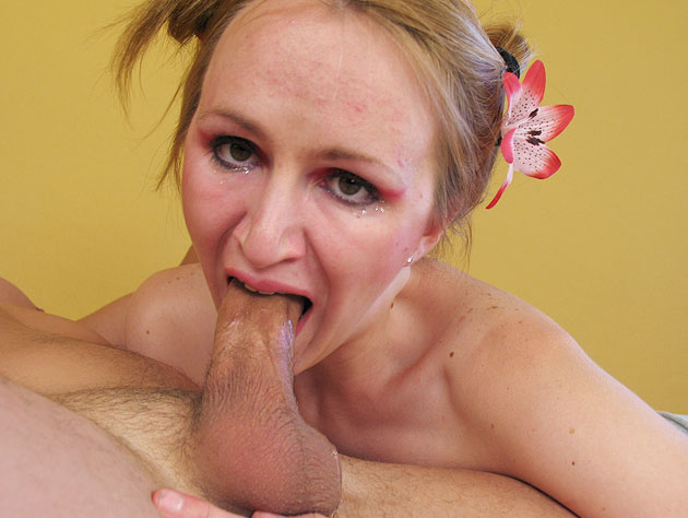 Janie is all about sucking cock