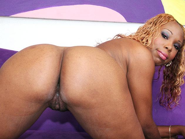 Ebony slut awaits her big cock