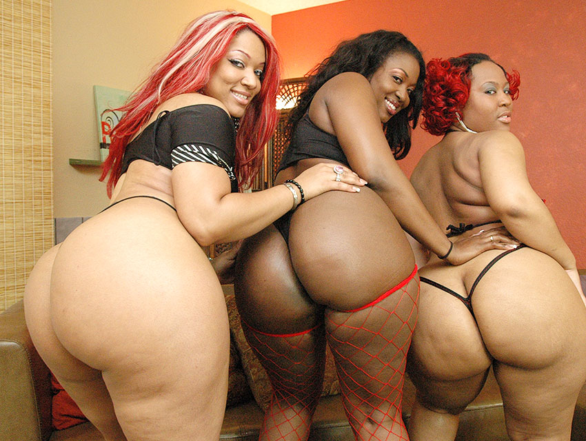 Big black booty threesome