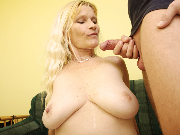 Gorgeous Blonde Cocksucking Mom