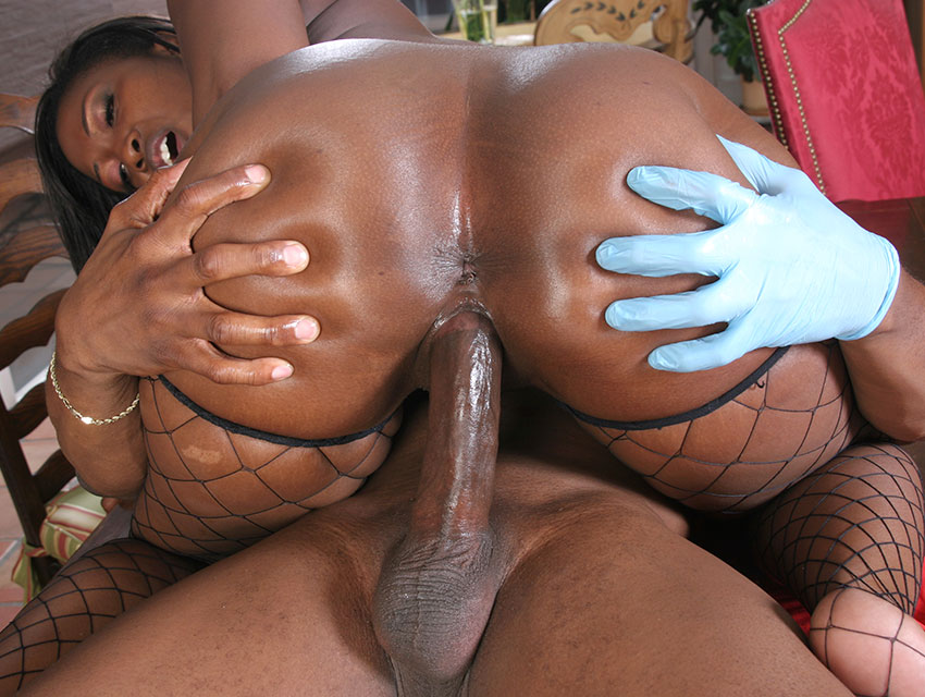 Big black ass riding a cock