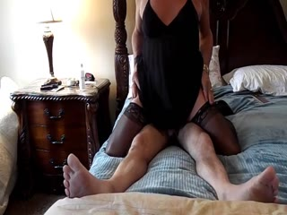 Horny Crossdresser In Sexy Lingerie Fucks A Married Man