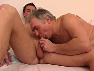 Old dude hungry for young cock