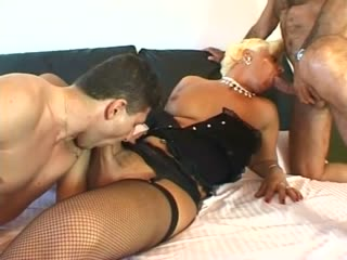 Two Guys Fucking The Italian Tranny