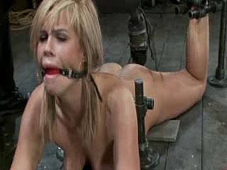 Hott Blonde Device Bondage