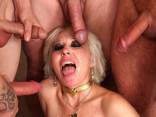 Mature Blond Dalny Marga Gets Gangbanged