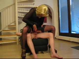 Naughty Crossdresser In Stockings Enjoys Fucking And Gets Facialized