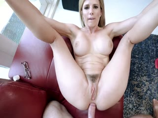 Sexy Step Mom  Worships A Big Dick And Takes A Mouthful Of Cum