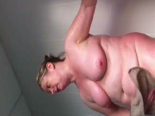 Fat Shower With 40 Inch Tits