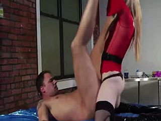 Hot Tranny Nurse Milks His Dick